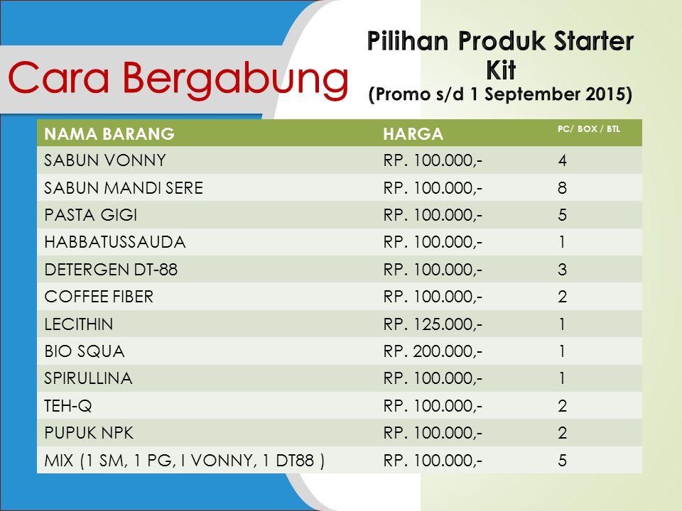 Bonus yang diberikan saat Anda mensponsori member baru sebesar Rp 30.000,- per member yang bergabung.