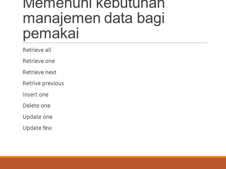 Pengelolaan file melibatkan banyak subsistem penting di sistem komputer, yaitu Manajemen perangkat masukan/keluaran di sistem operasi Sistem file di sistem operasi Sistem akses dan/atau sistem manajemen basis data