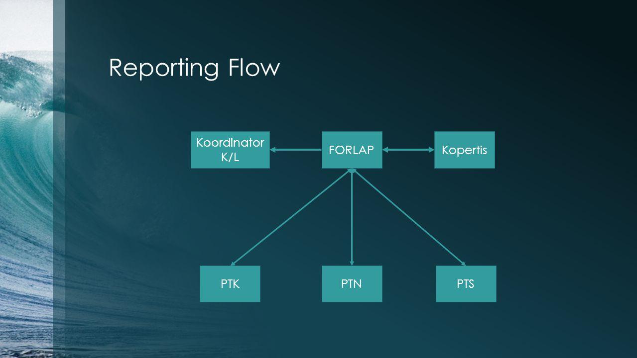 Reporting Flow FORLAP PTNPTS Kopertis PTK Koordinator K/L