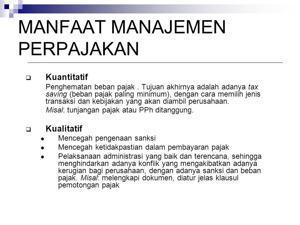  Kuantitatif Penghematan beban pajak.