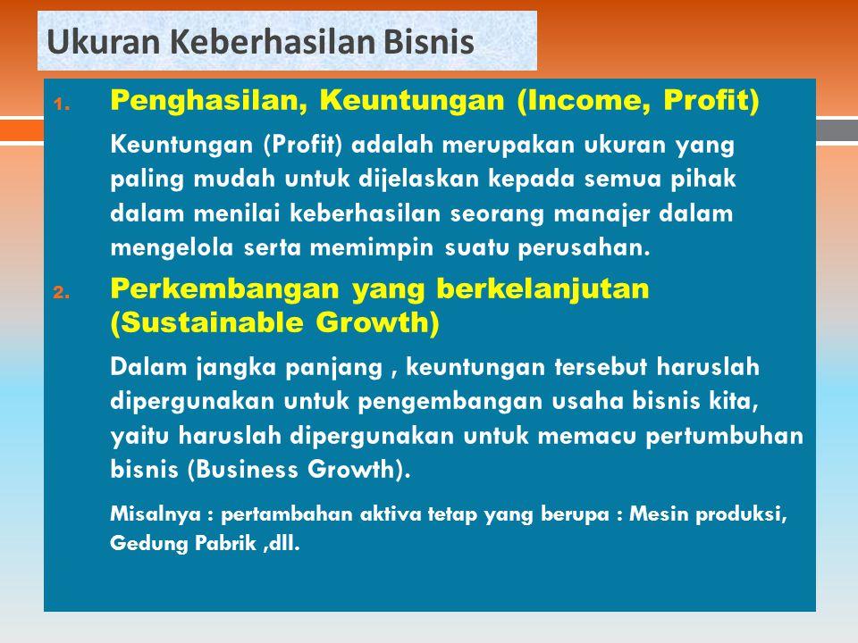 Ukuran Keberhasilan Bisnis 1.