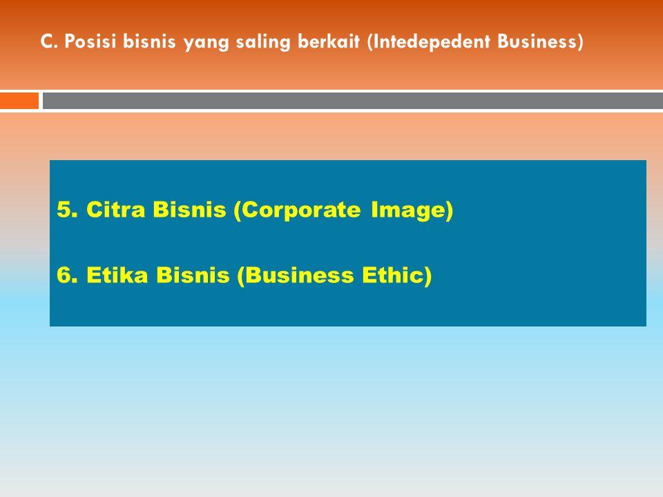 C.Posisi bisnis yang saling berkait (Intedepedent Business) 5.