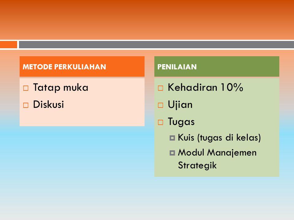 Sembilan Tugas penting Manajemen Strategik : 1.
