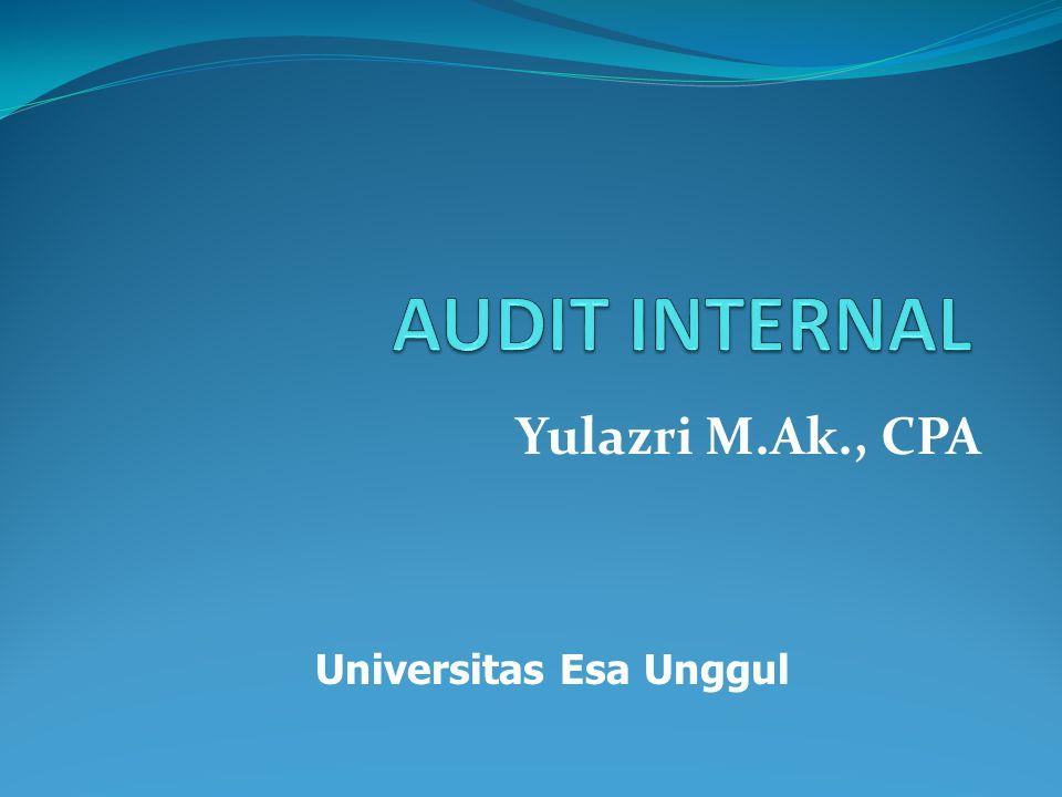 Yulazri M.Ak., CPA Universitas Esa Unggul
