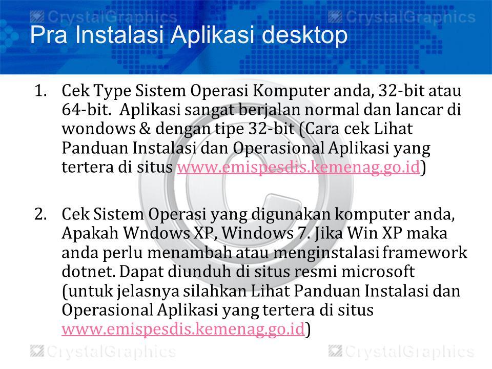 1.Cek Type Sistem Operasi Komputer anda, 32-bit atau 64-bit. Aplikasi sangat berjalan normal dan lancar di wondows & dengan tipe 32-bit (Cara cek Liha