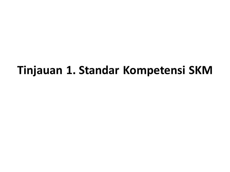 Tinjauan 1. Standar Kompetensi SKM
