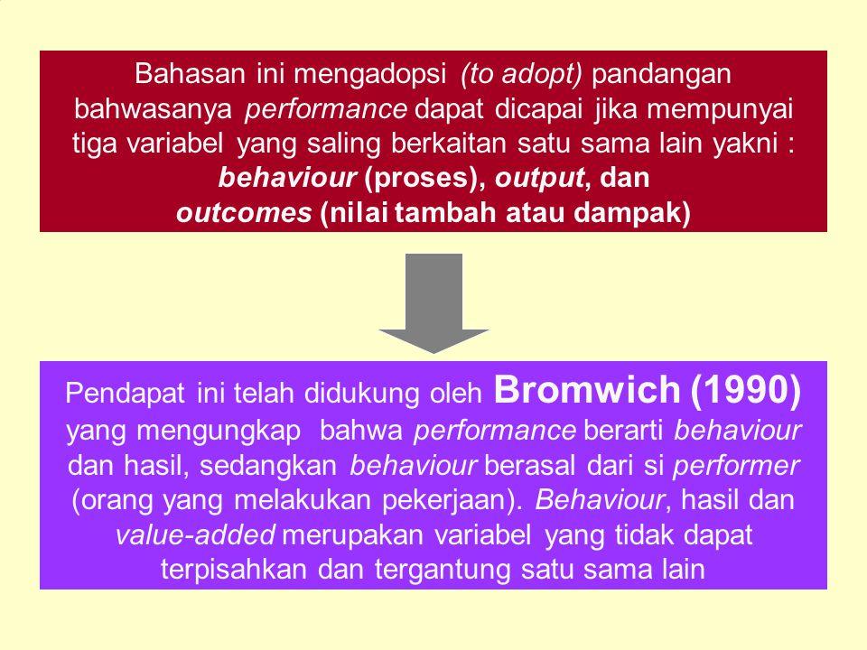 Amstrong dan Baron (1998) jika anda tidak dapat mendefenisikan apa yang dimaksud dengan performance, maka anda tidak dapat mengukur atau mengelolahnya