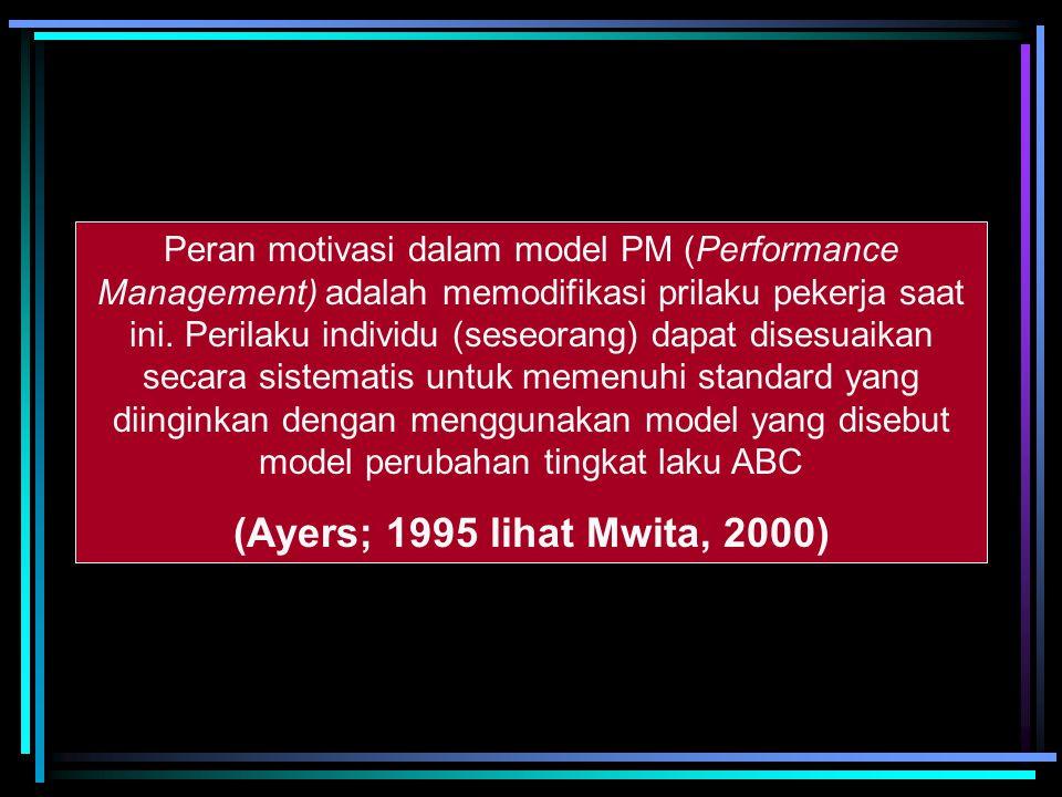 Penilaian terhadap performance seseorang Hendaknya tidak hanya mempertimbangkan apa yang telah dilakukan oleh seseorang (hasil) tapi juga mempertimban
