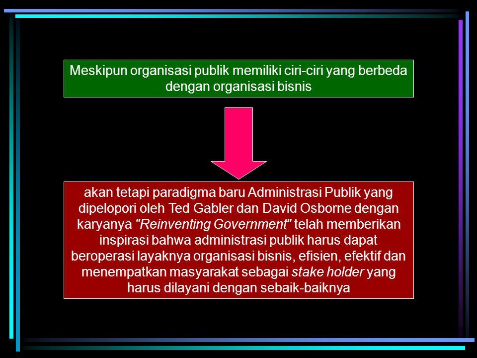 Organisasi PublikOrganisasi BisnisX Ciri – ciri Organisasi Publik (Kasim, 1993) 1. Organisasi publik tidak sepenuhnya otonomi tetapi dikuasai faktor-f