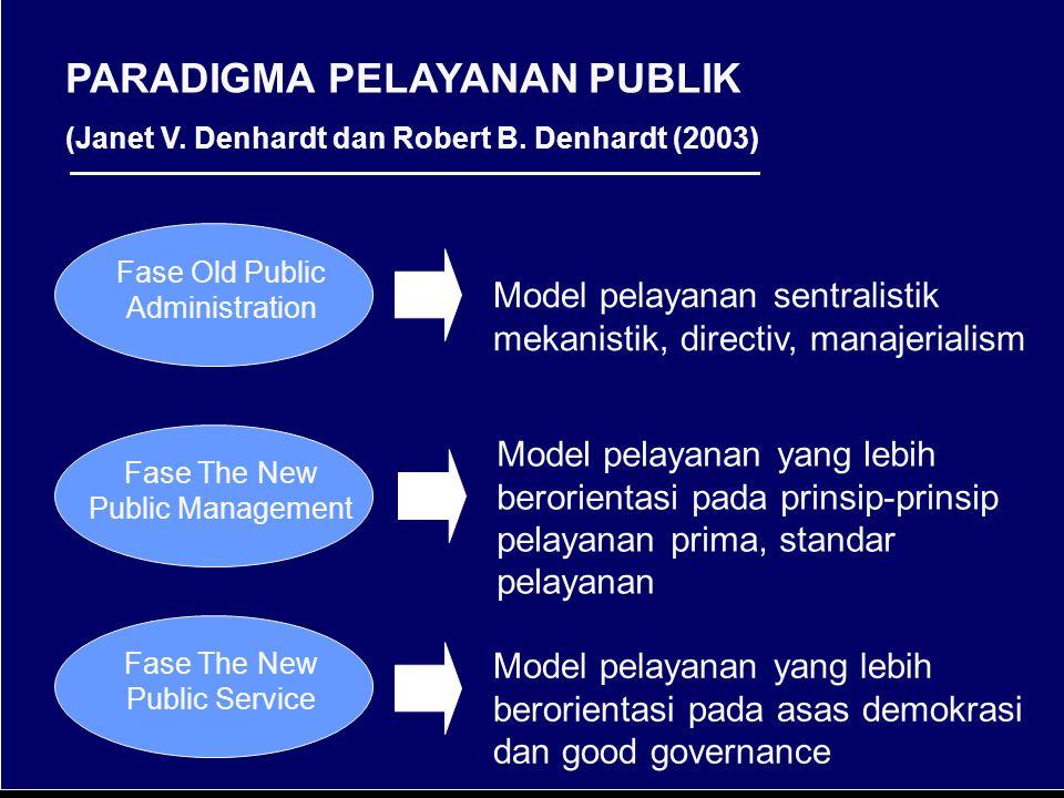 PARADIGMA PELAYANAN PUBLIK (Janet V.Denhardt dan Robert B.