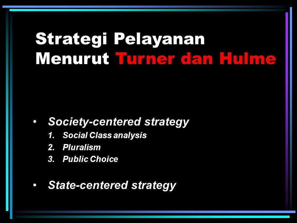 Strategi Pelayanan Menurut Kevin P. Kearns Growth Strategies (Strategi Pertumbuhan) Retrenchment Strategies (Strategi Meningkatkan Efisiensi) Stabilit