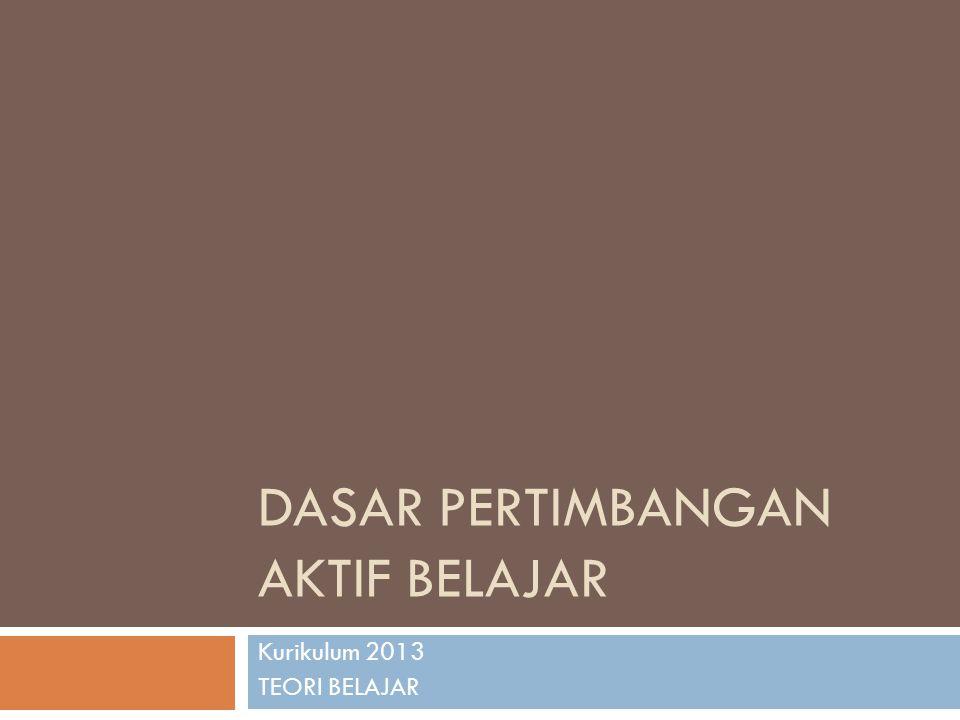 KURIKULUM 2013 TUJUAN: Mempersiapkan insan Indonesia untuk memiliki kemampuan hidup sebagai pribadi dan warganegara yang :  produktif, kreatif, inovatif, dan afektif  mampu berkontribusi pada kehidupan bermasyarakat, berbangsa, bernegara dan peradaban dunia.