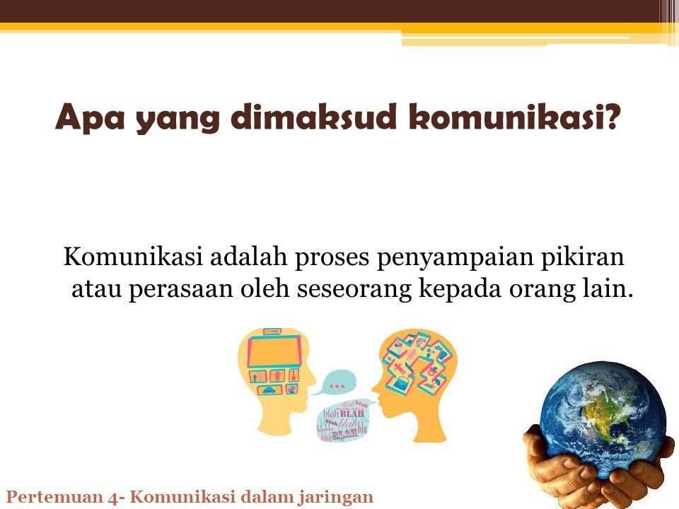 Komunikasi dalam Jaringan Oleh: Nina Hanifah SMK Muhammadiyah 7 Gondanglegi Pertemuan 4