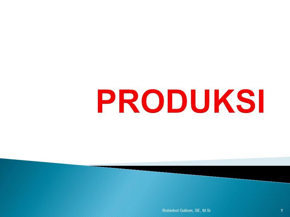1.Produk total (Total product) yaitu keseluruhan output yang dihasilkan dari hasil penggunaan sejumlah faktor produksi tertentu.