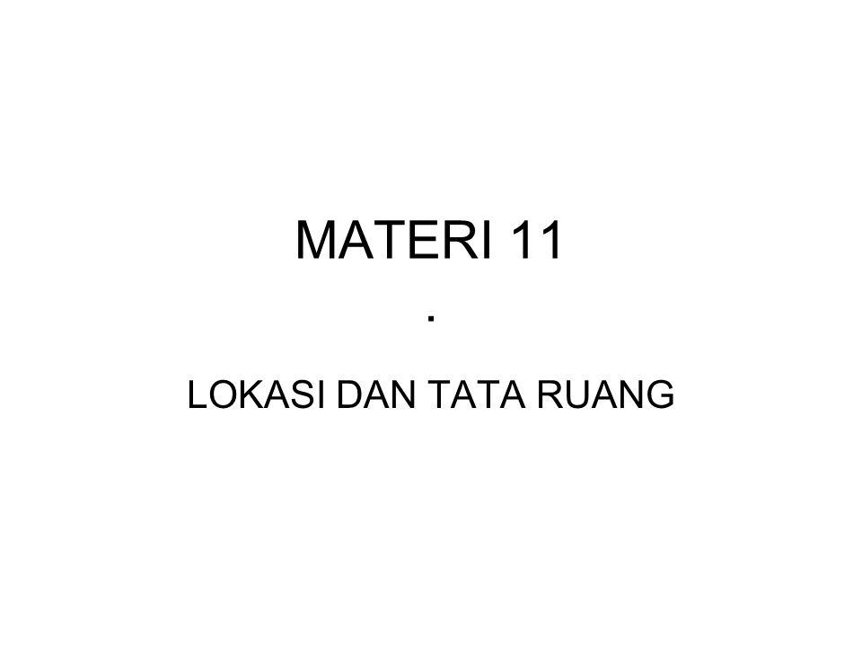 MATERI 11. LOKASI DAN TATA RUANG