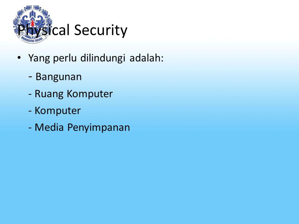 Physical Security Dilindungi terhadap apa.