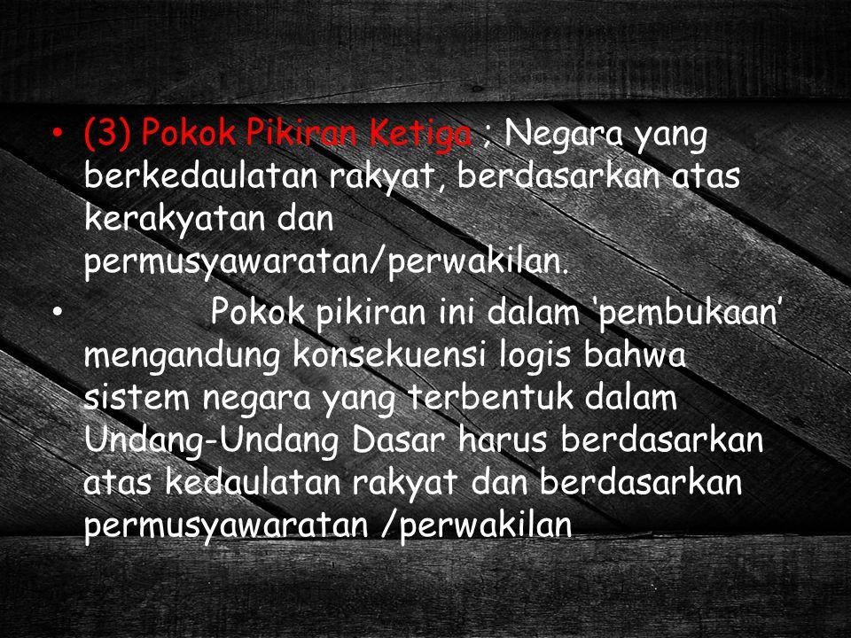 Penyusunan UUD ini untuk dasar-dasar pembentukan pemerintahan segara Indonesia dalam melaksanakan tujuan negara, yaitu melindungi genap bangsa dan seluruh tumpah darah Indonesia dan untuk memajukan sejahteraan umum, mencerdaskan kehidupan bangsa (tujuan ke dalam), melaksanakan ketertiban dunia yang berdasarkan perdamaian abadi dan adilan sosial (tujuan ke luar atau tujuan internasional).