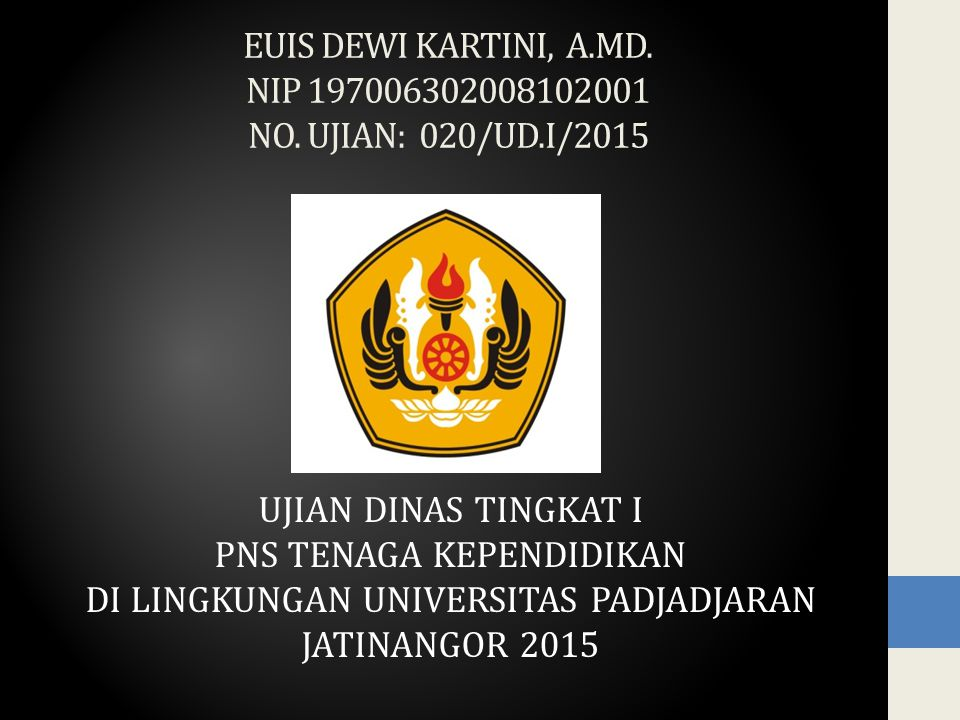 EUIS DEWI KARTINI, A.MD. NIP 197006302008102001 NO.
