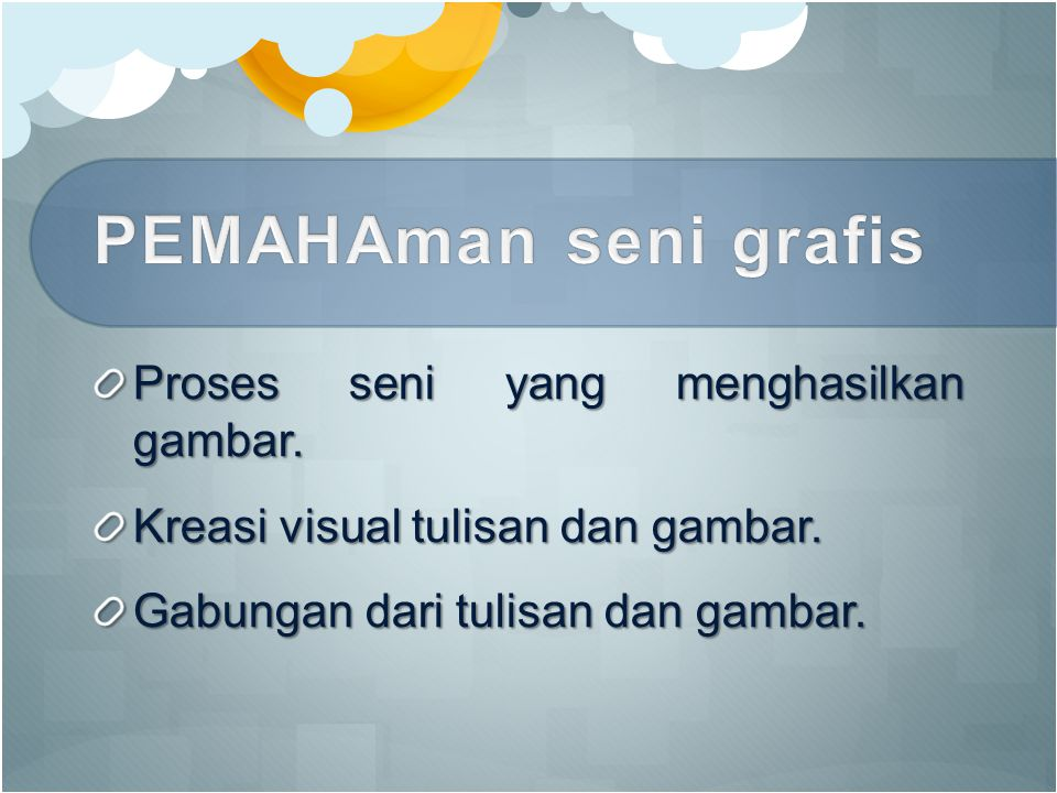 Proses seni yang menghasilkan gambar. Kreasi visual tulisan dan gambar. Gabungan dari tulisan dan gambar.