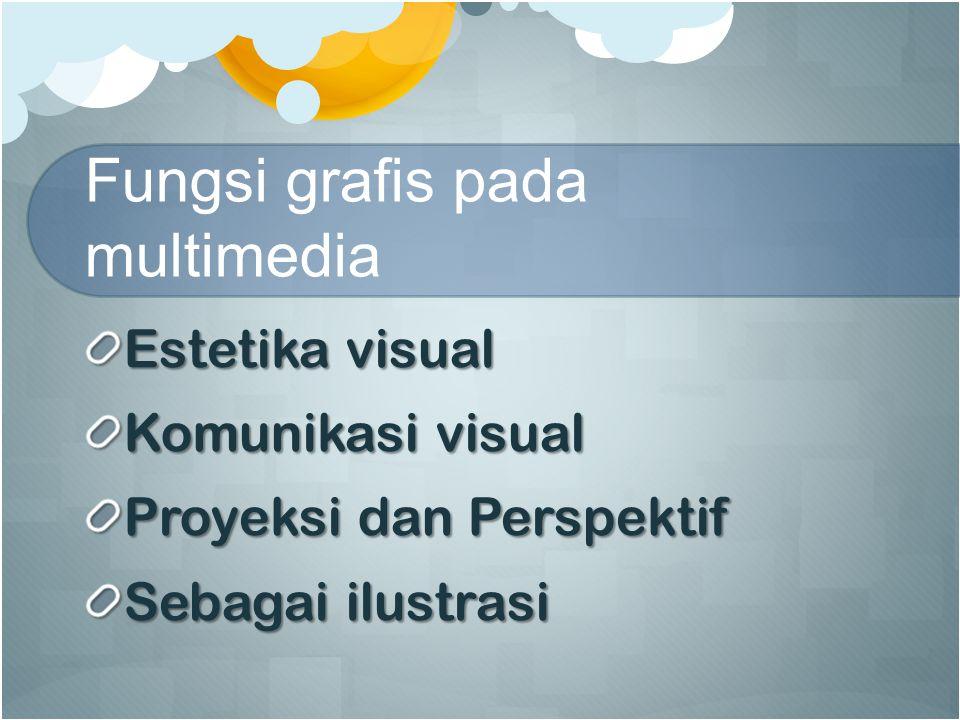 Fungsi grafis pada multimedia Estetika visual Komunikasi visual Proyeksi dan Perspektif Sebagai ilustrasi