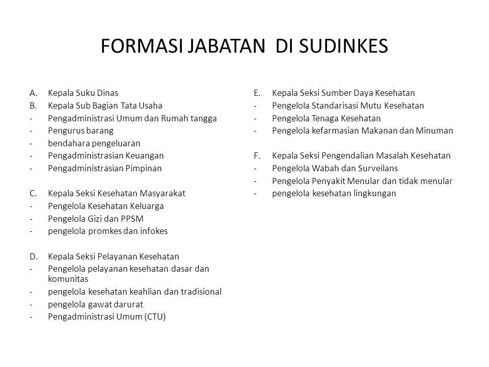 FORMASI JABATAN DI SUDINKES KAB.