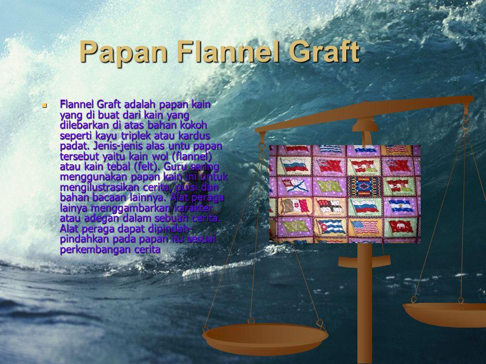 Papan Flannel Graft Flannel Graft adalah papan kain yang di buat dari kain yang dilebarkan di atas bahan kokoh seperti kayu triplek atau kardus padat.