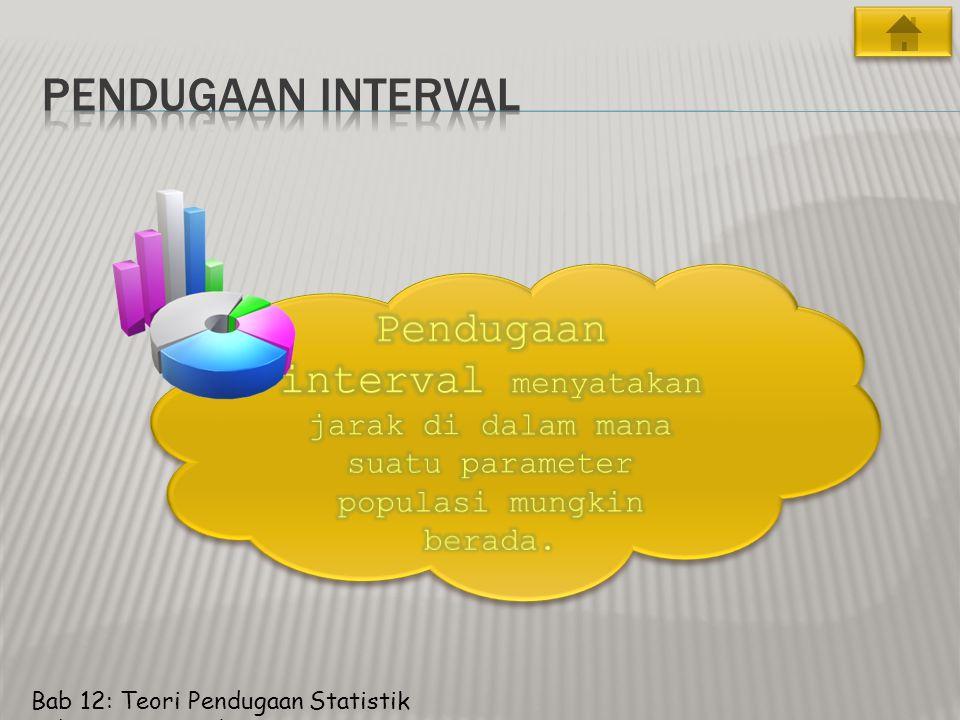 Bab 12: Teori Pendugaan Statistik Pendugaan Interval