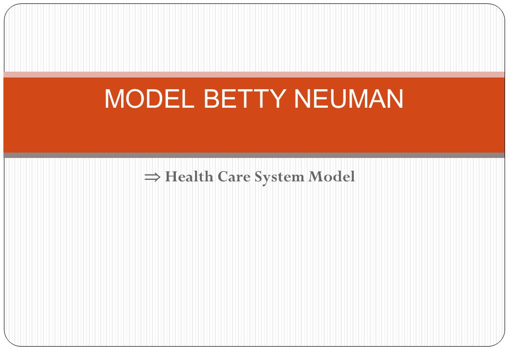 MODEL BETTY NEUMAN  Health Care System Model