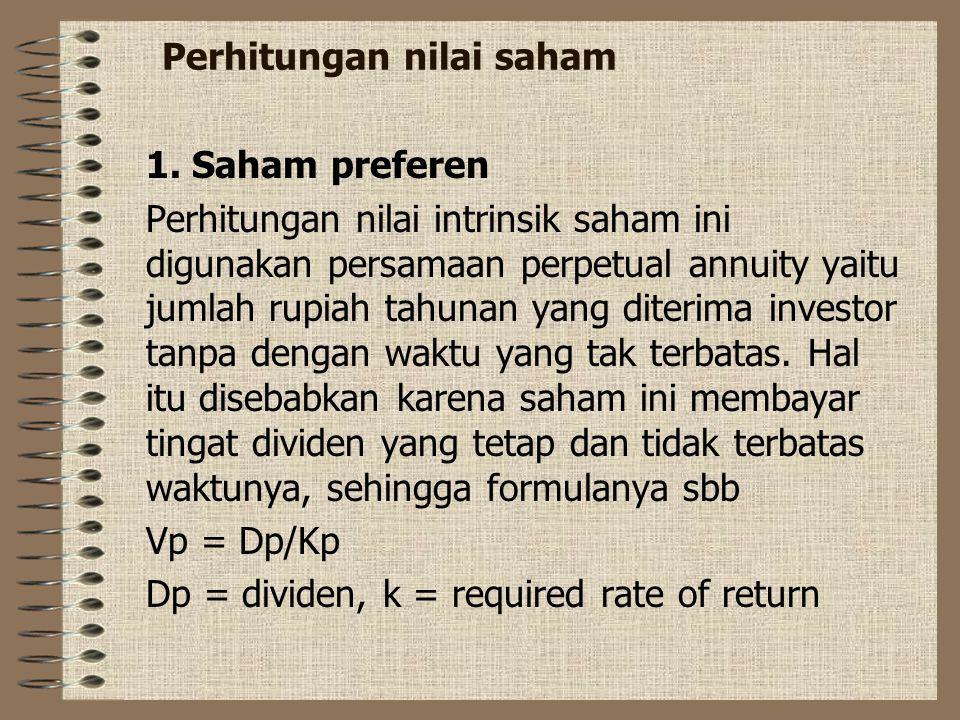 Saham atau stock Saham merupakan suatu surat bukti penyertaan modal pada suatu perusahaan. Secara umum ada 2 jenis saham 1. Saham biasa atau Common st