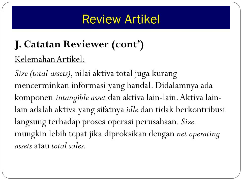 Review Artikel J.