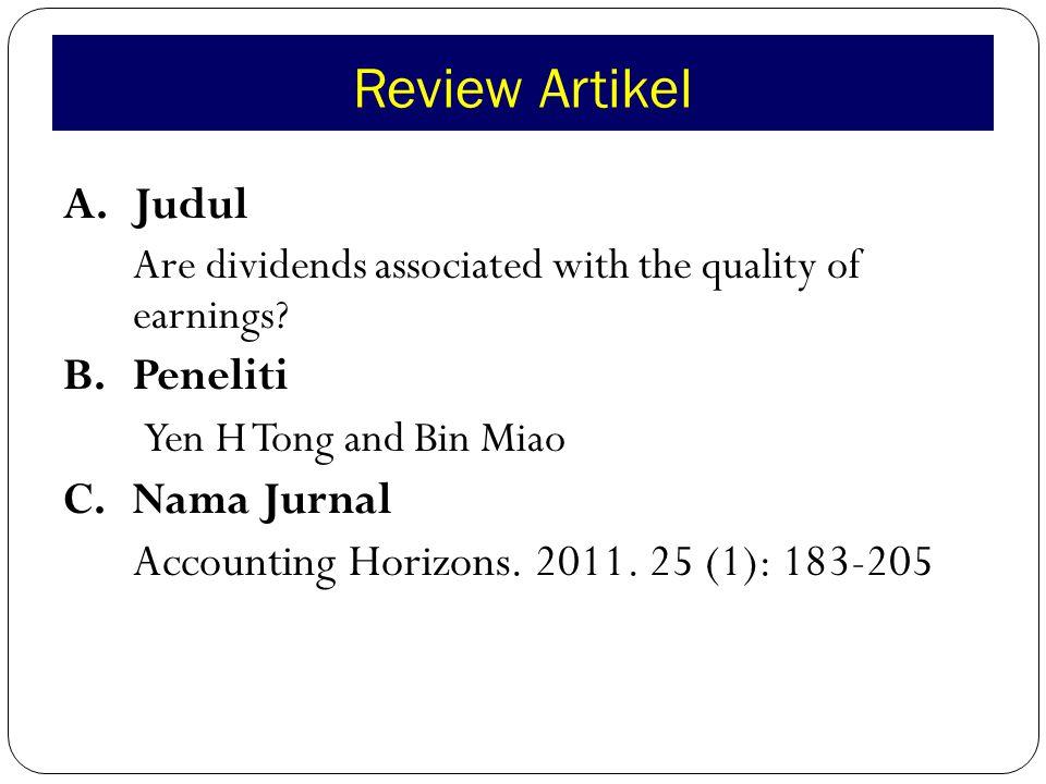 Review Artikel I.