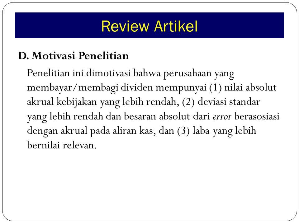 Review Artikel D.