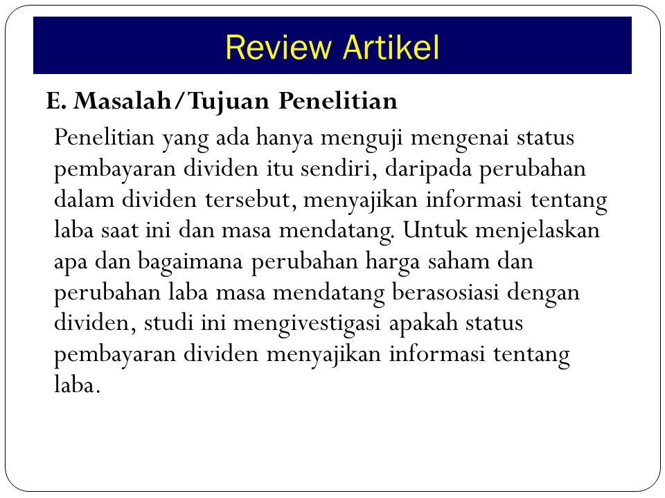 Review Artikel F.