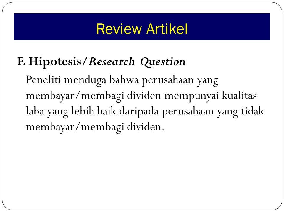 Review Artikel G.