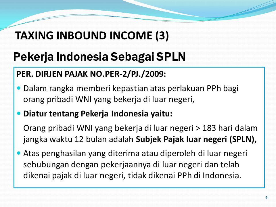 31 Pekerja Indonesia Sebagai SPLN PER.