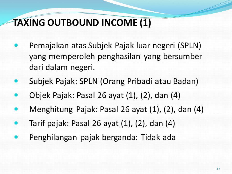 Pemajakan atas Subjek Pajak luar negeri (SPLN) yang memperoleh penghasilan yang bersumber dari dalam negeri.