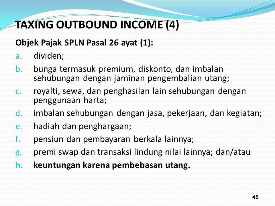 Objek Pajak SPLN Pasal 26 ayat (1): a.dividen; b.