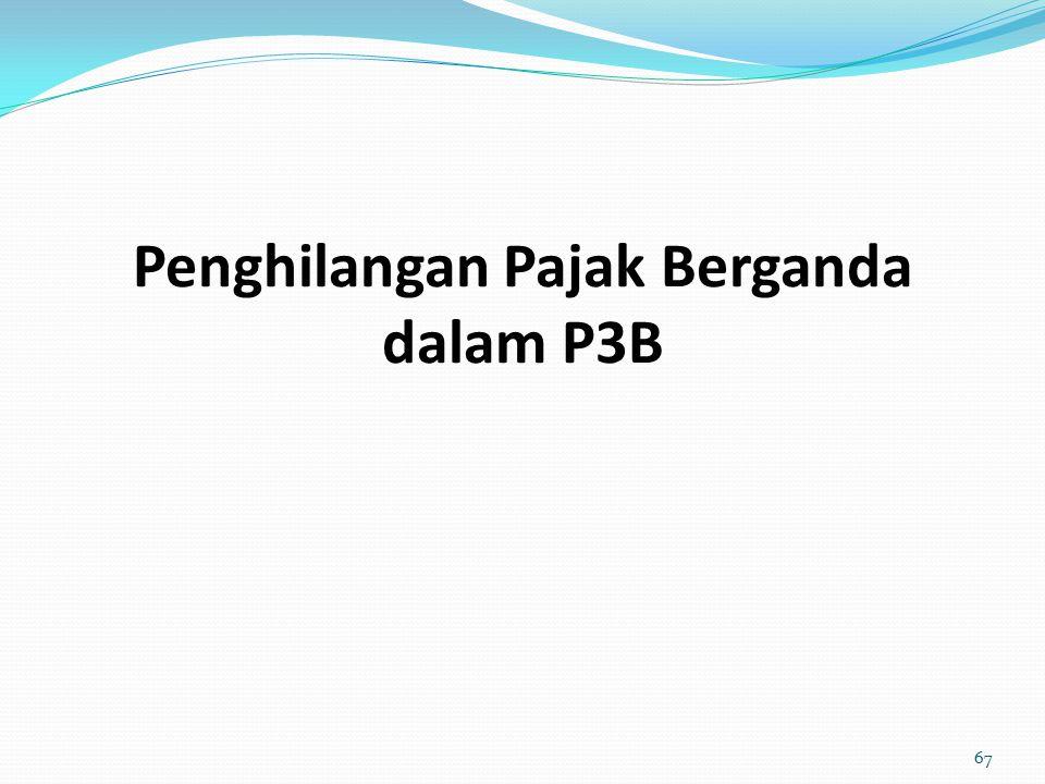 Penghilangan Pajak Berganda dalam P3B 67
