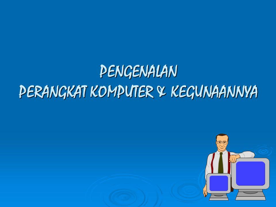 PRINTER : Perangkat yang digunakan u/ mencetak keluaran komputer berupa tulisan/gambar (disebut print out).