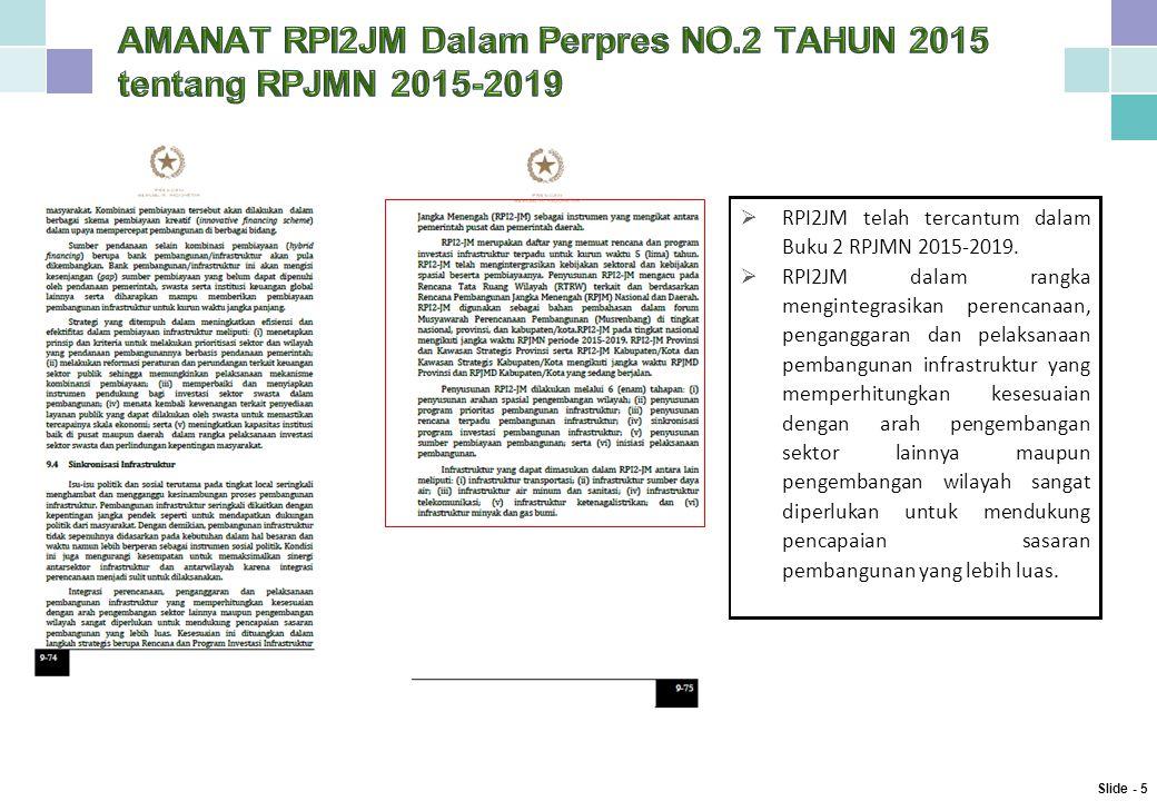  RPI2JM telah tercantum dalam Buku 2 RPJMN 2015-2019.