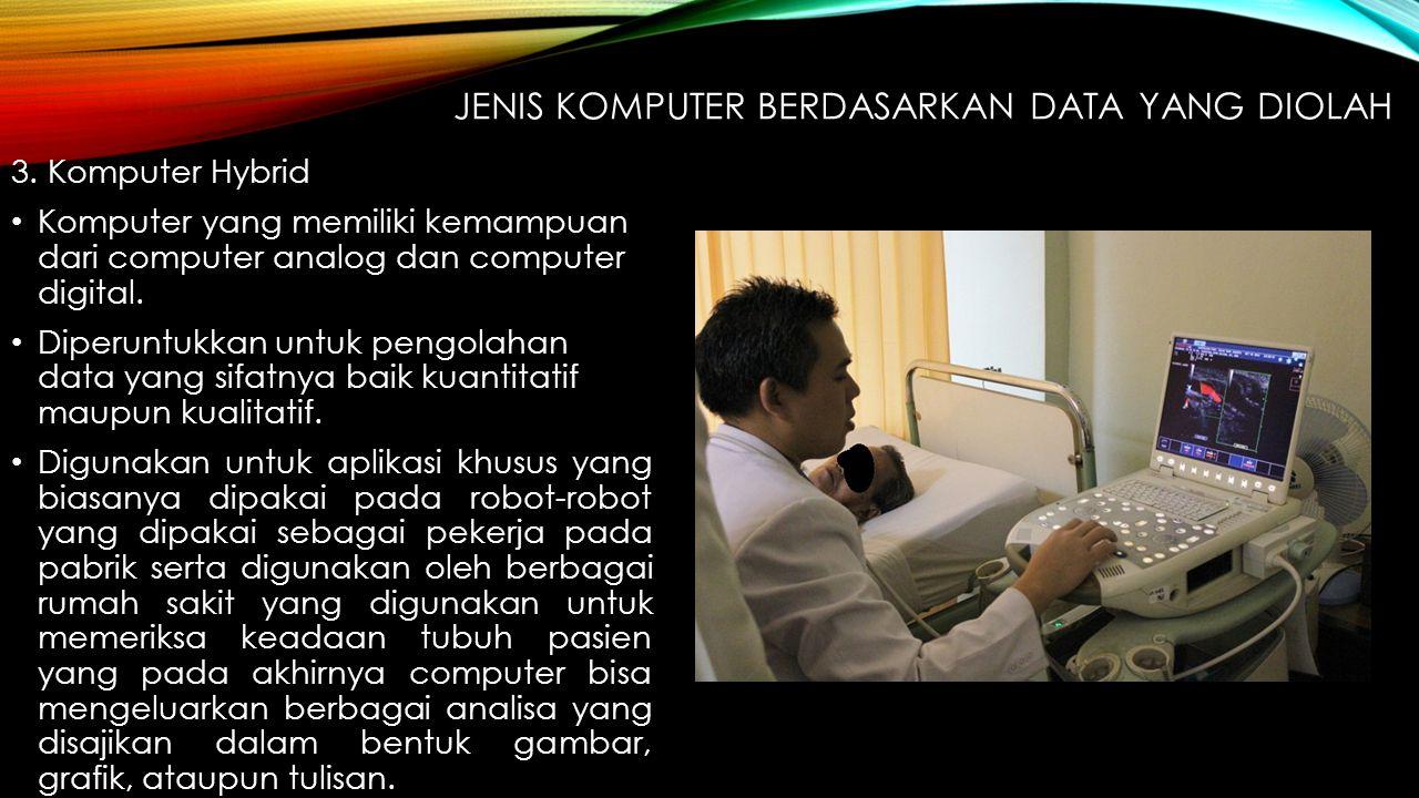 JENIS KOMPUTER BERDASARKAN PROCESSORNYA 1.Microcomputer Kelas computer yang menggunakan mikroprosesor sebagai CPU utamanya.