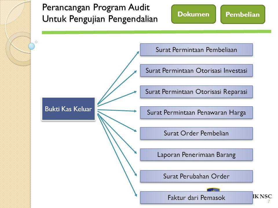Perancangan Program Audit Untuk Pengujian Pengendalian POLITEKNIK NSC Dokumen 7 Bukti Kas Keluar Surat Permintaan Pembeliaan Surat Permintaan Otorisas