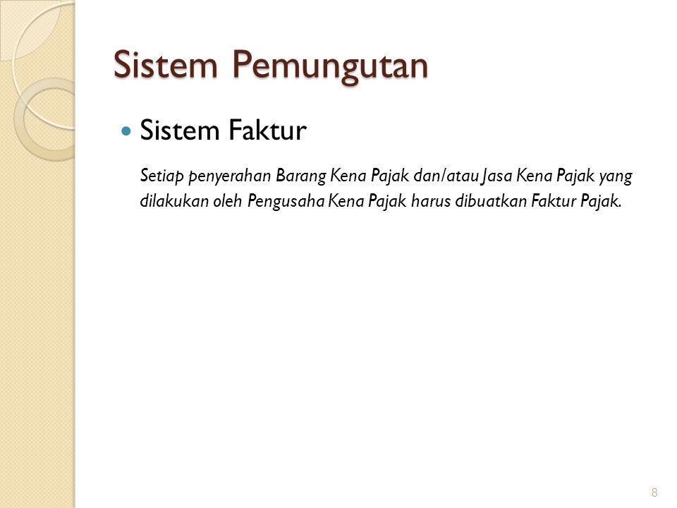 Administrasi Melaporkan usaha menjadi PKP Memungut PPN dan menerbitkan Faktur Pajak Menyampaikan SPT Masa PPN 9