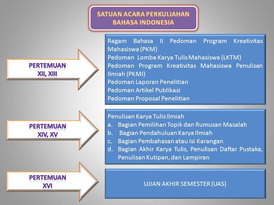 Hakekat Kedudukan Bahasa Indonesia Fungsi Bahasa Indonesia III.Bahasa Indonesia sebagai Bahasa Ilmu Pengetahuan, Teknologi, dan Seni Bahasa Indonesia dipakai pula sebagai alat untuk mengantar dan menyampaikan ilmu pengetahuan kepada berbagai kalangan dan tingkat pendidikan.