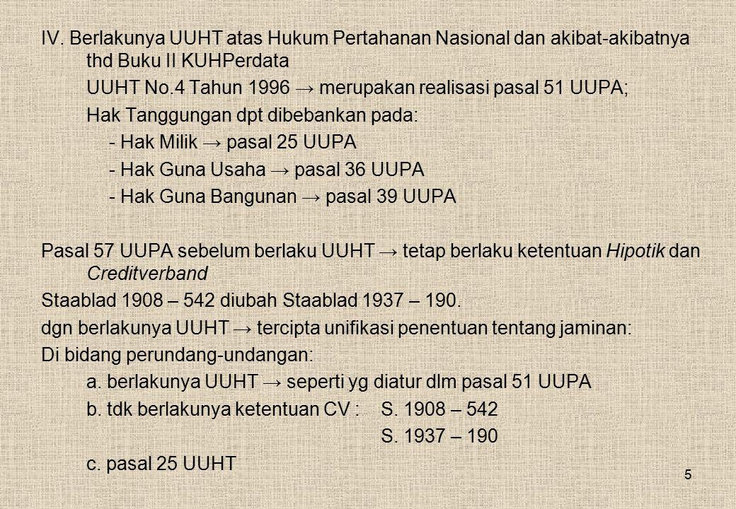 e.Batas-batas Pengaturan Hak Kebendaan 1.1977 (1) KUHPerdata → droit de suite menjadi tdk mutlak.