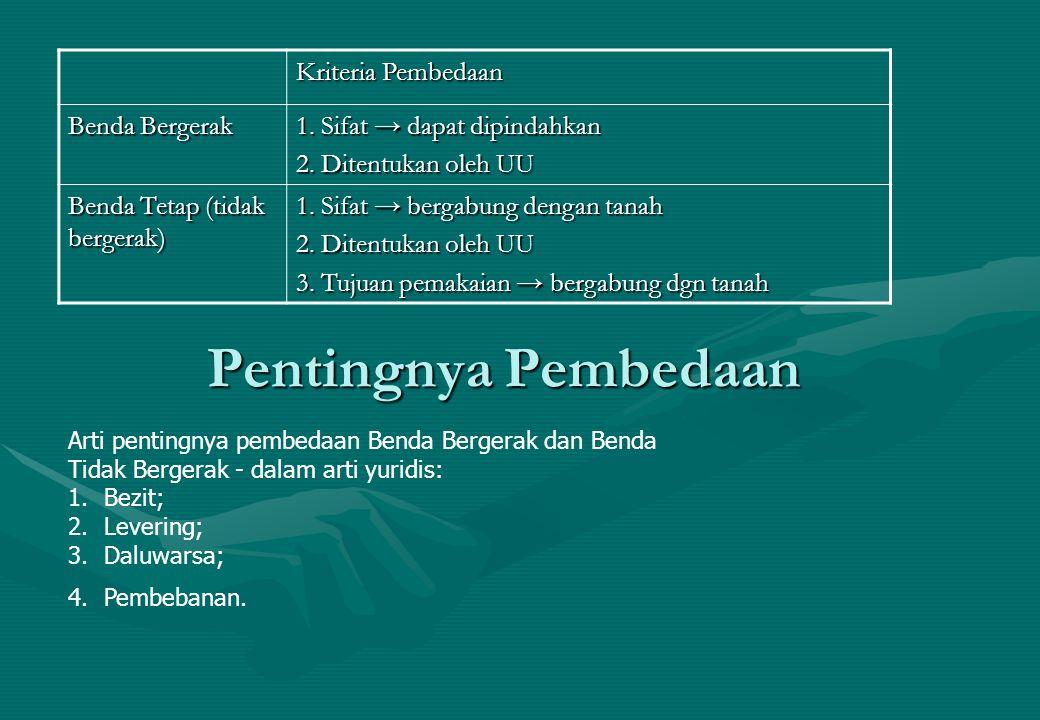 (7).UUJF No.42/1999 a.Objek benda Bergerak Benda berwujud Tak berwujud Tak berwujudTetap b.
