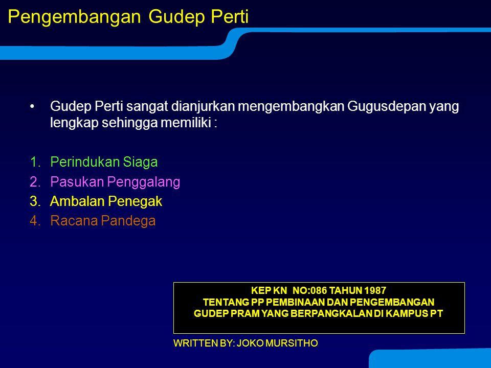 Racana Warga Racana: 1.Pandega dan 2.Calon Pandega. Untuk menggerakkan Racana dibentuk Dewan Racana yang sudah dilantik sebagai D. Dewan Racana dipimp