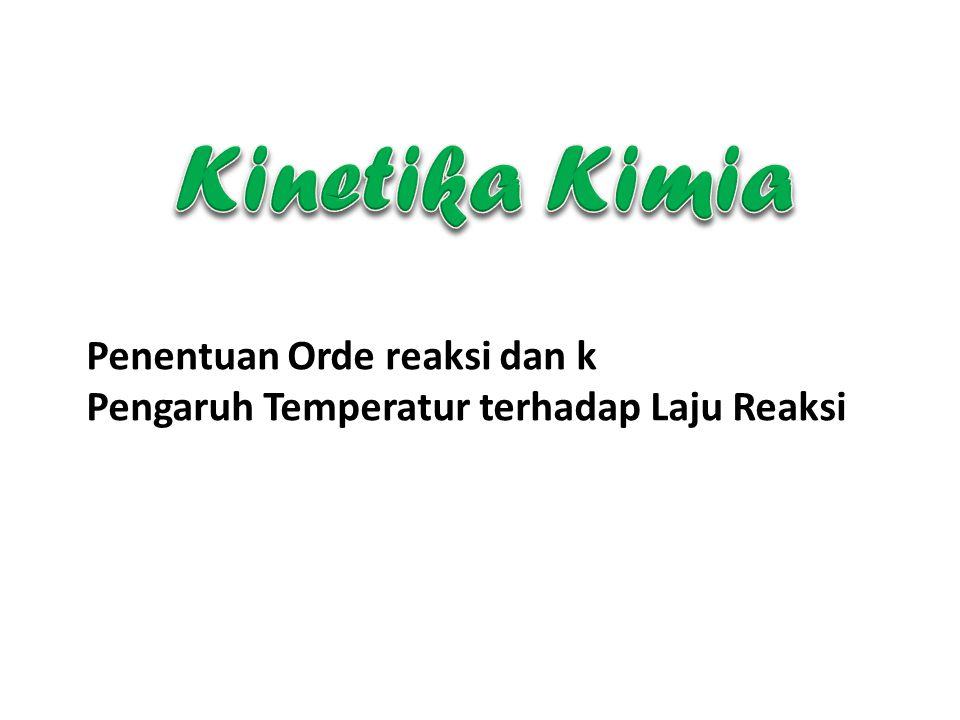Penentuan Orde reaksi dan k Pengaruh Temperatur terhadap Laju Reaksi