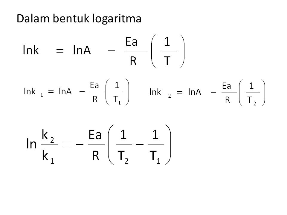 Dalam bentuk logaritma