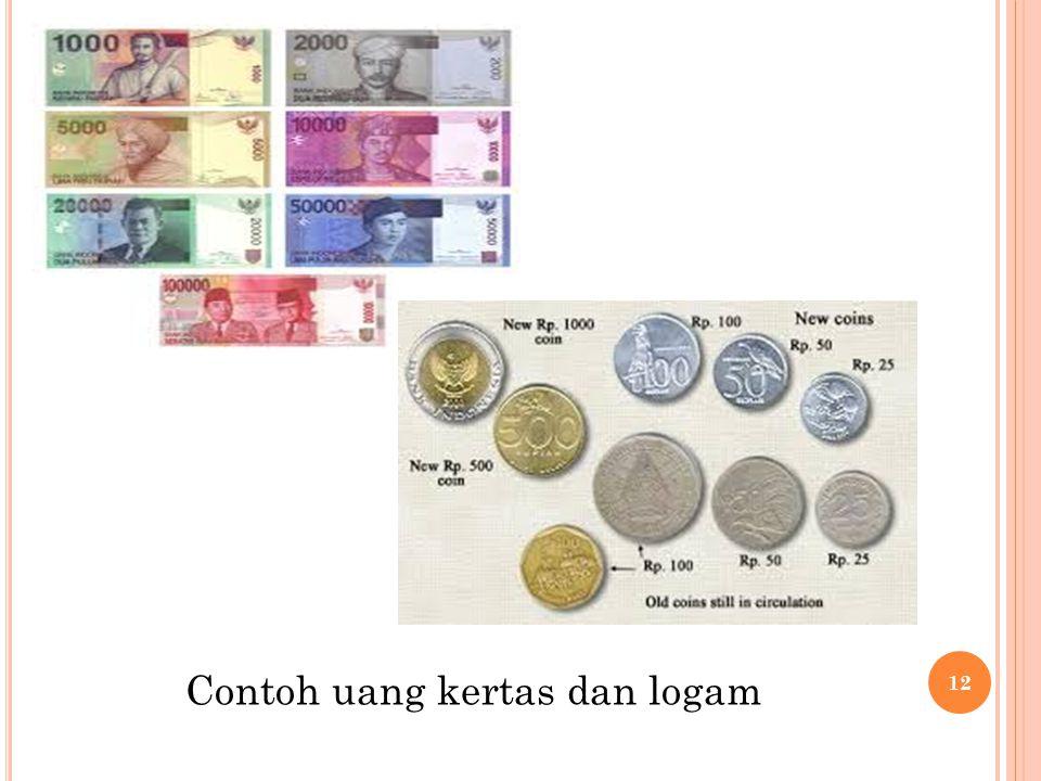 Contoh uang kertas dan logam 12
